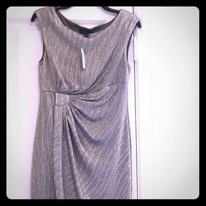 Silver Party Dress - Dress Barn Collection Size 10